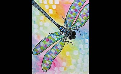 Paint Nite: Shimmering Dragonfly II