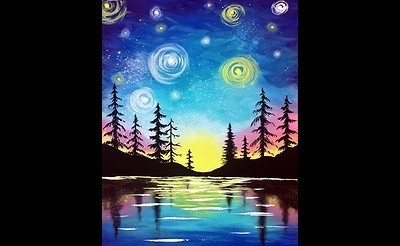 Paint Nite: Starry Lake Sunset