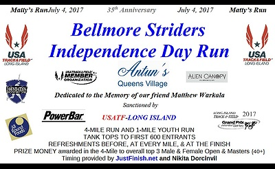 Bellmore Striders 2017 Independence Day Run