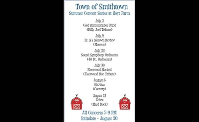 Smithtown's 2017 Family Concert Series at Hoyt Farm