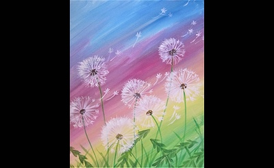 Paint Nite: Gone to Seed in a Rainbow