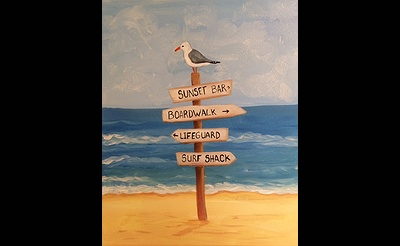 Paint Nite: Beach Sign