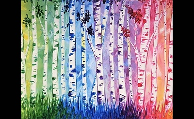 Paint Nite: Birches Be Crazy