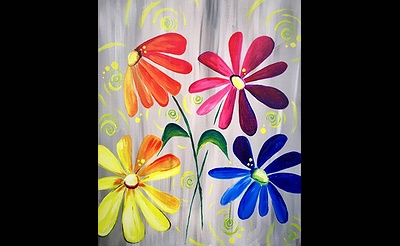 Paint Nite: ColorFULL Daisy Delight
