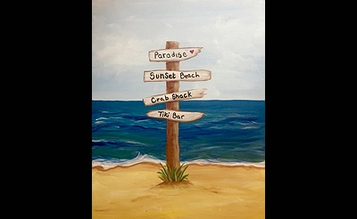 Paint Nite: Easy Breezy Beach Sign