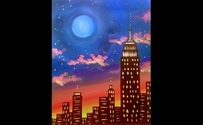 Paint Nite: Blue Moon Over The Empire State