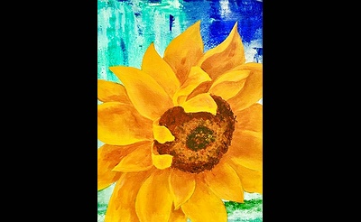 Paint Nite: Colorful Sunflower Burst
