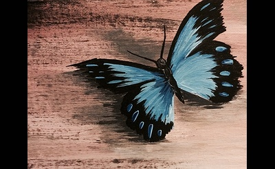 Paint Nite: Cool Blue Butterfly