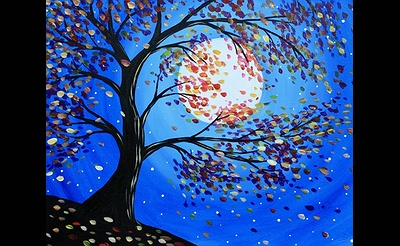 Paint Nite: Autumn In The Moonlight