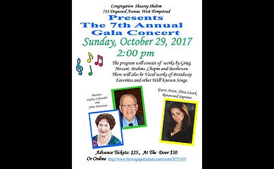 Congregation Shaaray Shalom to Host Gala Concert