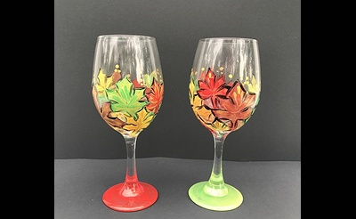 Paint Nite: Autumn Splendor Wine Glasses
