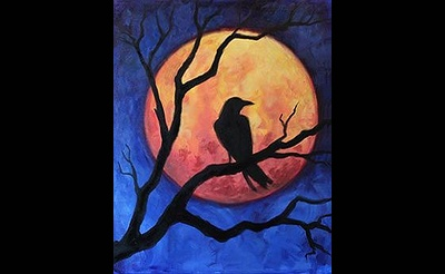 Paint Nite: October Raven