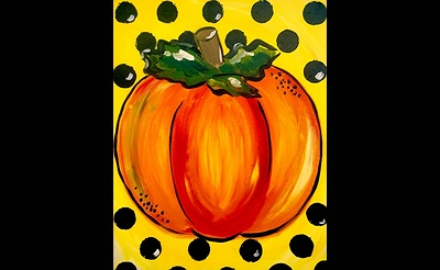 Paint Nite: Polka Dot Pumpkin