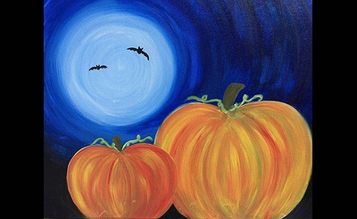 Paint Nite: Halloween Pumpkins In The Moonlight