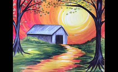 Paint Nite: Autumn Covered Bridge