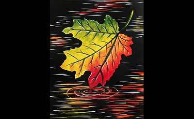 Paint Nite: Maple Leaf Reflection