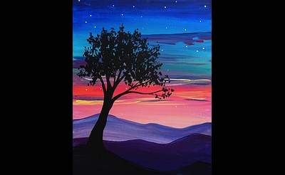 Paint Nite: Mountain Twilight