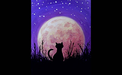 Paint Nite: Harvest Moon Kitty