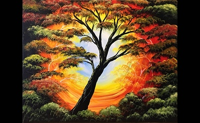 Paint Nite: Tree of Life Autumn Glow