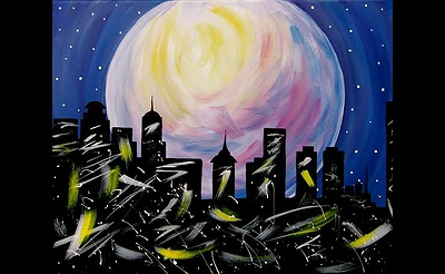 Paint Nite: Moonlit Queen City