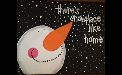 Paint The Town: Paint 'n Sip - Snowplace Like Home