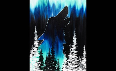 Paint Nite: Wolf In The Pines