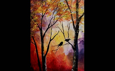 Paint Nite: Autumn Kiss
