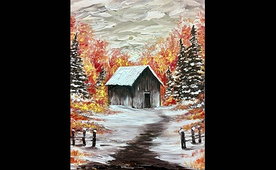 Paint Nite: Colors by the Cabin