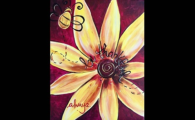 Paint Nite: Be Thankful, Always