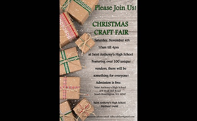 St Anthony's HS Christmas Craft and Vendor Fair
