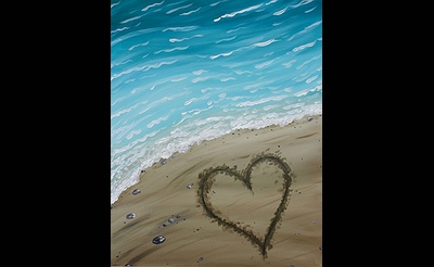 Paint Nite: A Heart In The Sand