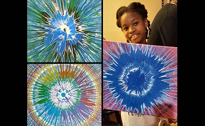 Create a Giant SpinArt Painting!