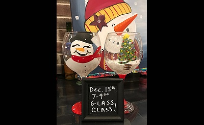 Christmas Glass Class at Pinot's Palette
