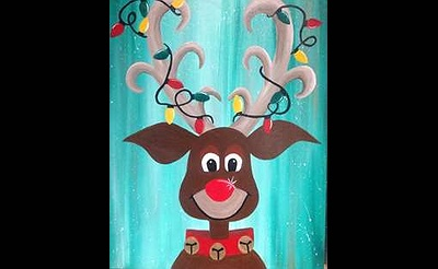 """Oh Deer, It's Christmas"" Painting at Pinot's Palette"