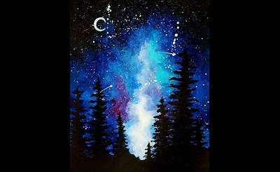 Paint Nite: Milky Way in the Pines