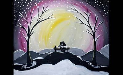 Paint Nite: Snowfall Bench Date