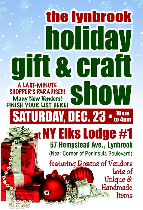 Lynbrook holiday gift craft show for Craft fairs long island