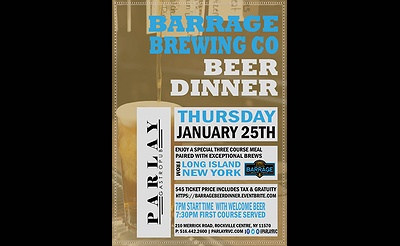 Barrage Beer Dinner at Parlay Gastropub