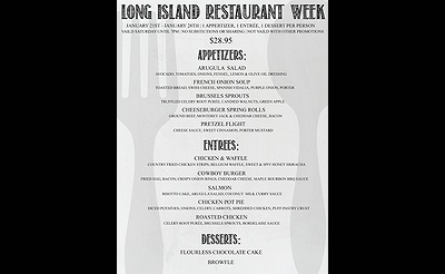 Long Island Restaurant Week at Parlay!