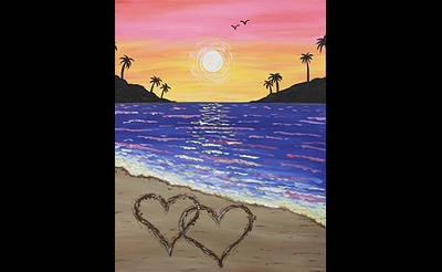 Paint Nite: Hearts In The Sand