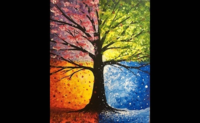 Paint Nite: Hot, Cold, Wet, and Falling
