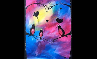 Paint Nite: Some Birdy Stole My Heart