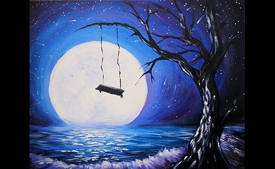 Paint Nite: Into The Moonlit Swing