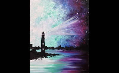 Paint Nite: Galaxy Lighthouse III