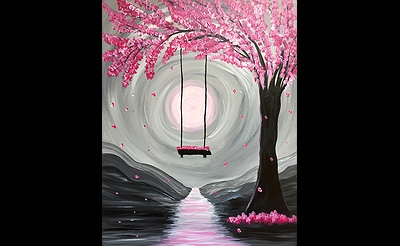 Paint Nite: Whimsical Spring Blossoms