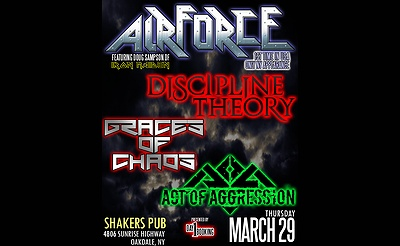 Discipline Theory, Airforce (UK) & more at Shakers Pub