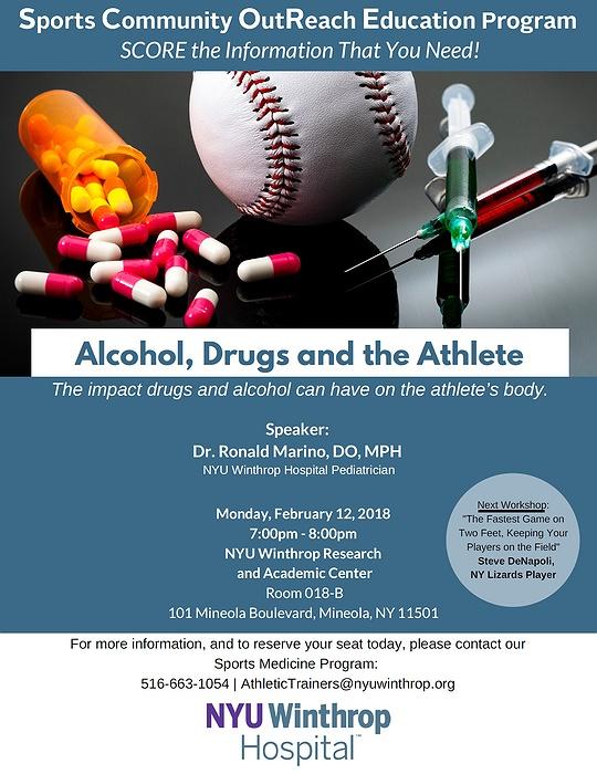 NYU Winthrop Hospital Sports Medicine SCORE Lecture: Alcohol