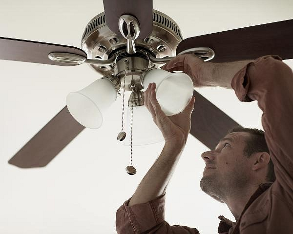 Diy workshop installing a ceiling fan our skilled store associates will guide you step by step through a ceiling fan installationmaking the project a breeze aloadofball Gallery