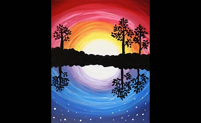 Paint Nite: Night and Day, Day and Night