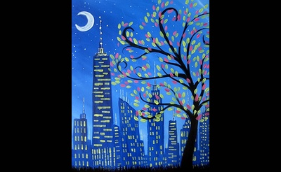 Paint Nite: Shimmering City